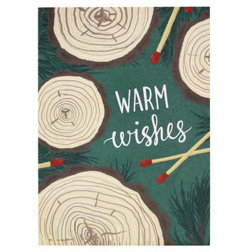 Logs and Matches Holiday Card Boxed Set