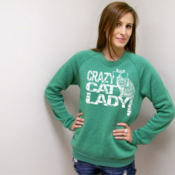 Cat Sweater, Crazy Cat Lady,  sweatshirt womens, quote sweater, cats, adopt, oversized sweater, cat shirt, cat love, cat lady, cat shirt