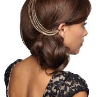 ModCloth Vintage Inspired Chain the Rules Hair Comb