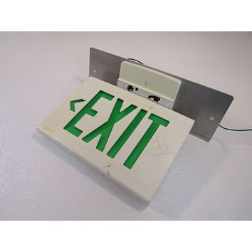 Hubbell Lighted Exit Sign 13in x 9in Single Side 120 VAC 277 VAC LED LXUGW -- Used
