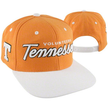 Tennessee Volunteers Light Orange/White Headliner Two-Tone Snapback Adjustable Hat