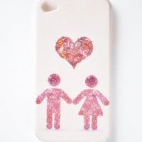iPhone 4 case, iPhone 4s case, iPhone case, case for iPhone 4 - Pink Love,Love Couples