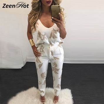2016 New arrival Off the Shoulder Backless Jumpsuit Long Rompers Sexy Crop Top Slim Women two piece jumpsuit enteritos mujer