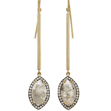 Stick with Pear Shaped Diamond Earrings