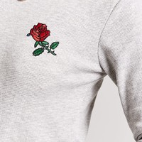 Embroidered Thermal Crop Top