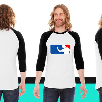 Major League Beer Pong American Apparel Unisex 3/4 Sleeve T-Shirt