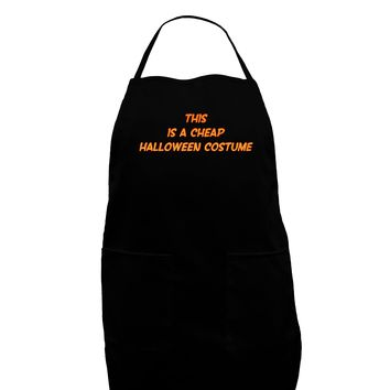 This is a Cheap Costume Dark Adult Apron