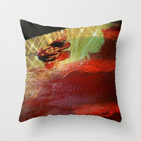Red, Yellow, Minimalist, Movement - Decorative Throw Pillow Cover, 3 Sizes Available - Home, Office, Guest Room, Dorm - Made To Order - R#66