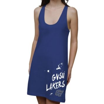 Grand Valley State Lakers Ladies Paint Strokes Junior's Racerback Dress - Royal Blue