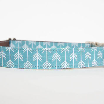 Dog Collar - Blue/White Camp Dog