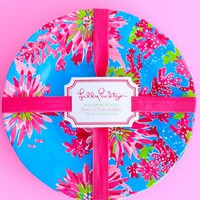 RESTOCK: Lilly Pulitzer Melamine Plate Set-Trippin' & Sippin'