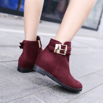 Buckle Ankle Boots Women Shoes Fall|Winter 2689