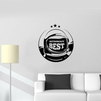 Wall Decal Astronaut Space Suit Spaceship Galaxy Vinyl Sticker (ed904)