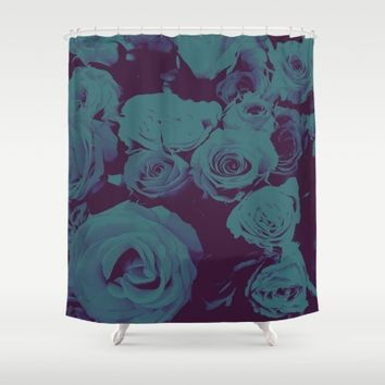 Mother May I -blue- Shower Curtain by Ducky B