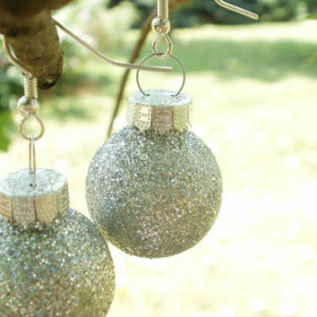 Mini Christmas Ornament Earrings