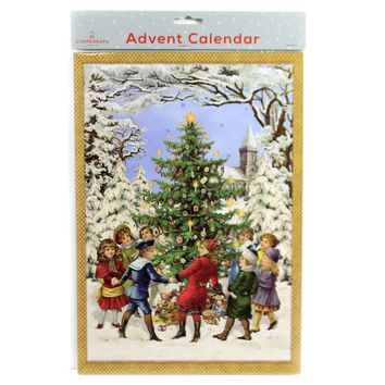 Christmas DANCING AROUND THE TREE Paper Advent Calendar Germany Acl70013