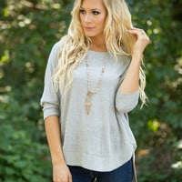 This Warm Embrace Sweater Grey