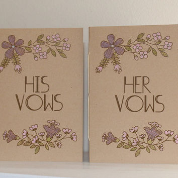 Kraft Wedding Vow Books  - His And Her Vow Books