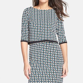 Petite Women's Donna Morgan Print Jersey Popover Dress