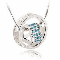 Exquisite Rhinestone Two-Layered Heart Necklace For Women