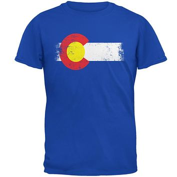 Born and Raised Colorado State Flag Mens Soft T Shirt