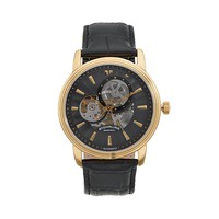Stuhrling Original Men's Delphi Acheron Mechanical Skeleton Watch (Black)