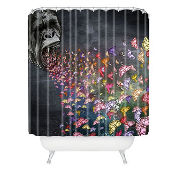 Belle13 The Roar Shower Curtain