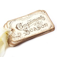 Elegant Holiday Gift Tags - Cream and Gold - Pack of 10