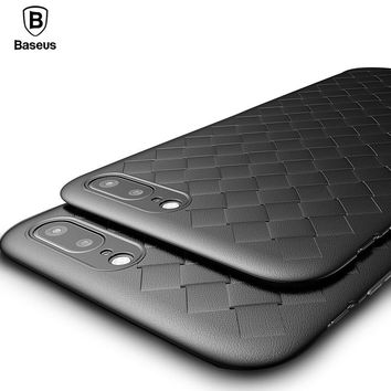 Plaid Grid Case For iPhone X 8 7 Cover Case Baseus Luxury Ultra Thin Soft TPU Silicone Capinhas For iPhone 8 7 Plus Coque Capa