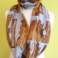 Westeros Map, Scarf, Game Of Thrones, Mother Of Dragons, Infinity Scarf, Geek Scarf, ROOBY LANE