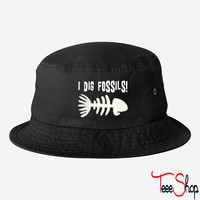 Funny fossil bucket hat