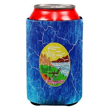 Montana Vintage Distressed State Flag All Over Can Cooler