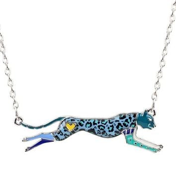 Statement Leopard Panther Choker Necklace Pendant Enamel Chain Collar Trendy Jungle Animal Jewelry Accessories For Women