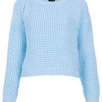 Knitted Textured Crop Jumper - Sweaters - Knitwear - Clothing - Topshop USA