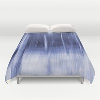 Foggy winter forest  Duvet Cover by Pirmin Nohr