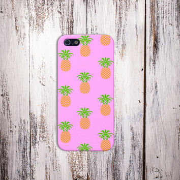 Pink Pineapple Case for iPhone 5 iPhone 5S iPhone 4 iPhone 4S and Samsung Galaxy S5 S4 & S3