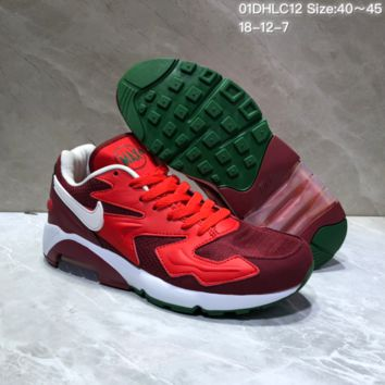 KUYOU N853 Nike Air Max 2 Light New Cushion Casual Running Shoes Red Green
