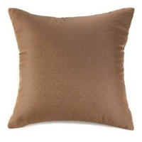 Shimmering Brown Throw Pillow
