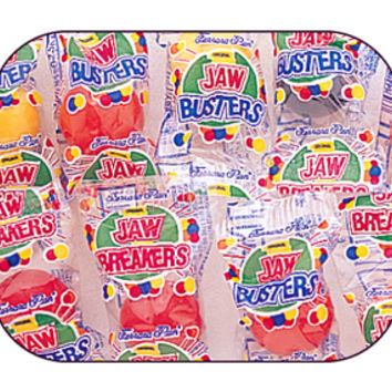 Jaw Busters Jawbreakers Candy - Wrapped: 5LB Bag