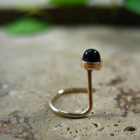 Nose Screw Hook Stud Onyx 3mm