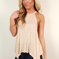 Twirls For Days Shift Tank in Nude