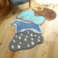 Autumn Fall welcome door mat doormat Short Plush Creative Funny Cartoon Cute Animal  Outdoor  For Entrance Front s Indoor Kitchen Carpet Tapetes AT_76_7