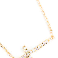 Cross My Heart Necklace - Gold