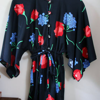 1970's Batwing Playsuit