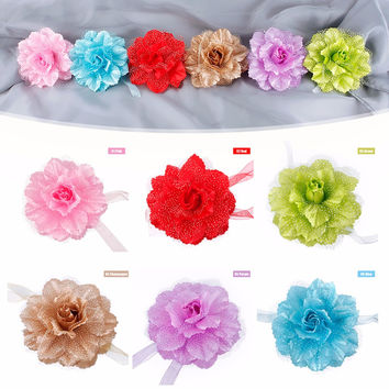 1Pc New Flower Tie Backs Holdbacks Window Curtain Tieback Drape Colorful Holders Voile Net Curtain Panels #229429