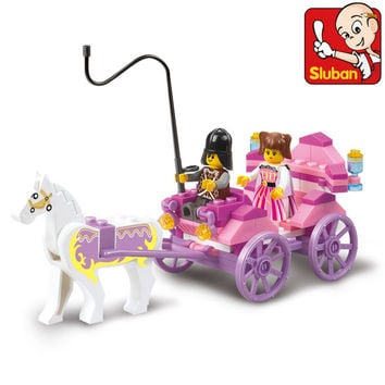 New Arrival Princess Carriage DIY Building Blocks Kits Children Educational Puzzle Toy Plastic Bricks