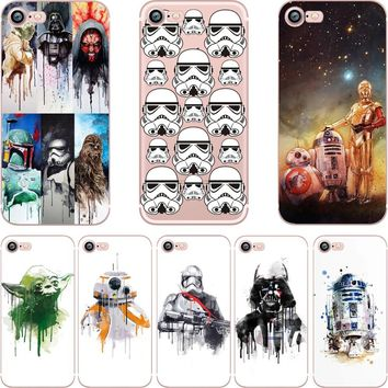 ciciber Star Wars R2D2 BB8 Coffee Stormtrooper Darth Vader clear soft silicon TPU case cover for iPhone 6 6S 7 8 plus SE 5S X