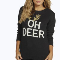 Caroline Oh Deer Christmas Jumper