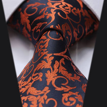 Black and Orange Paisley Tie