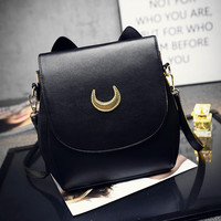 Moon Ladies Backpack Leather Bag